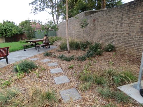 Part of the new garden beds & new seating